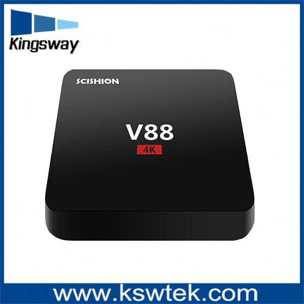 Manufacturer Best Price 4K Internet Tv Box Rk3229 V88 Android Tv Box For Watching Movies