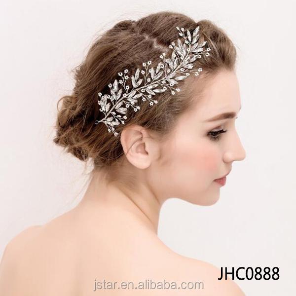 nueva novia headwear adornos para el pelo con perlas de cristal de lujo