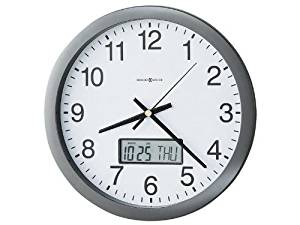 """- Chronicle Wall Clock with LCD Inset, 14"""", Gray"""