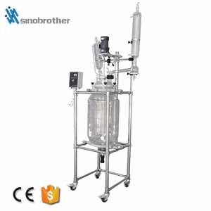 1-100l Double Jacketed Reflux And Distillation Jacket Heating Vacuum Glass Reactor Equipment