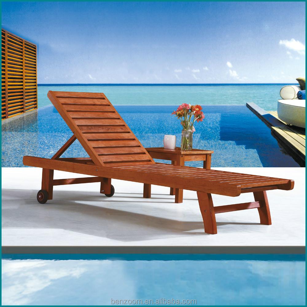 protable in legno massello di nuoto poveri di legno lettino sedia ... - Alluminio Sedia Imbragatura Per La Decorazione Del Patio