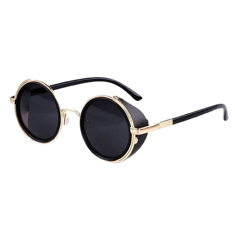 KESEE Round Retro Polaroid Sunglasses Driving Polarized Glasses Men Steampunk Retro Style 50s Glasses