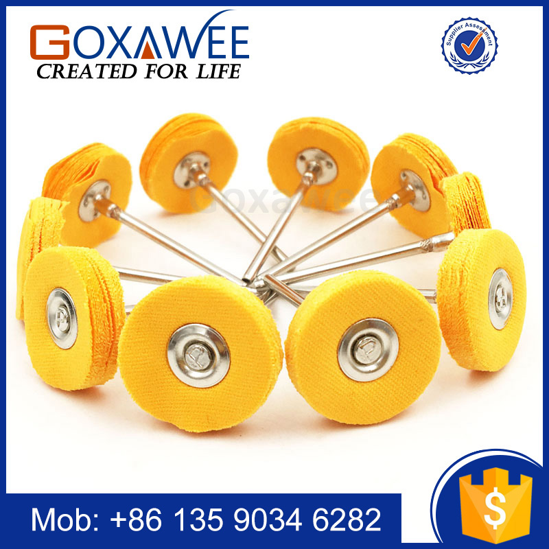 Abrasive Tools 100pcs/pack 2.35mm Polishing Wheel Yellow Cloth Mounted Brush Wheel For Rotary Tool Die Grinder