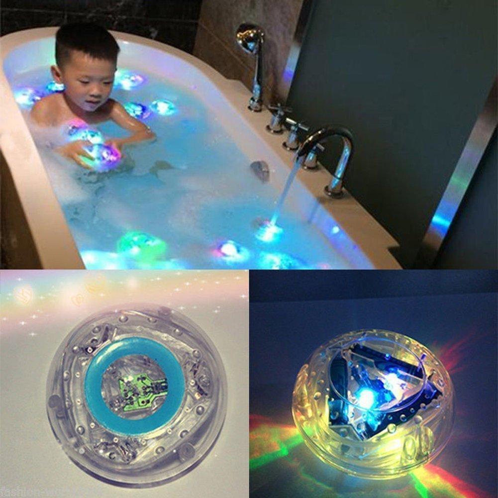 MagicW Bath LED Light Toys Waterproof Funny Bathroom Bathing Tub LED Lights Toys for Kids Bathtub