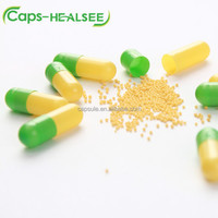 Halal green and yellow vegetable HPMC empty capsules size 00 0 1 2