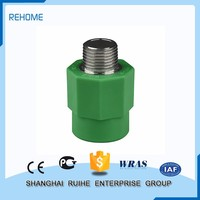 Manufacture good quality Plumbing materials Male Threaded Coupling ppr pipe fitting welding
