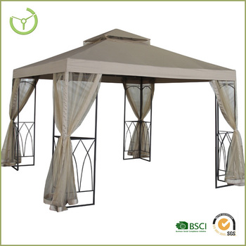 3*3m Outdoor Garden Steel Frame Gazebo Tent - Buy Garden Gazebo Tent ...