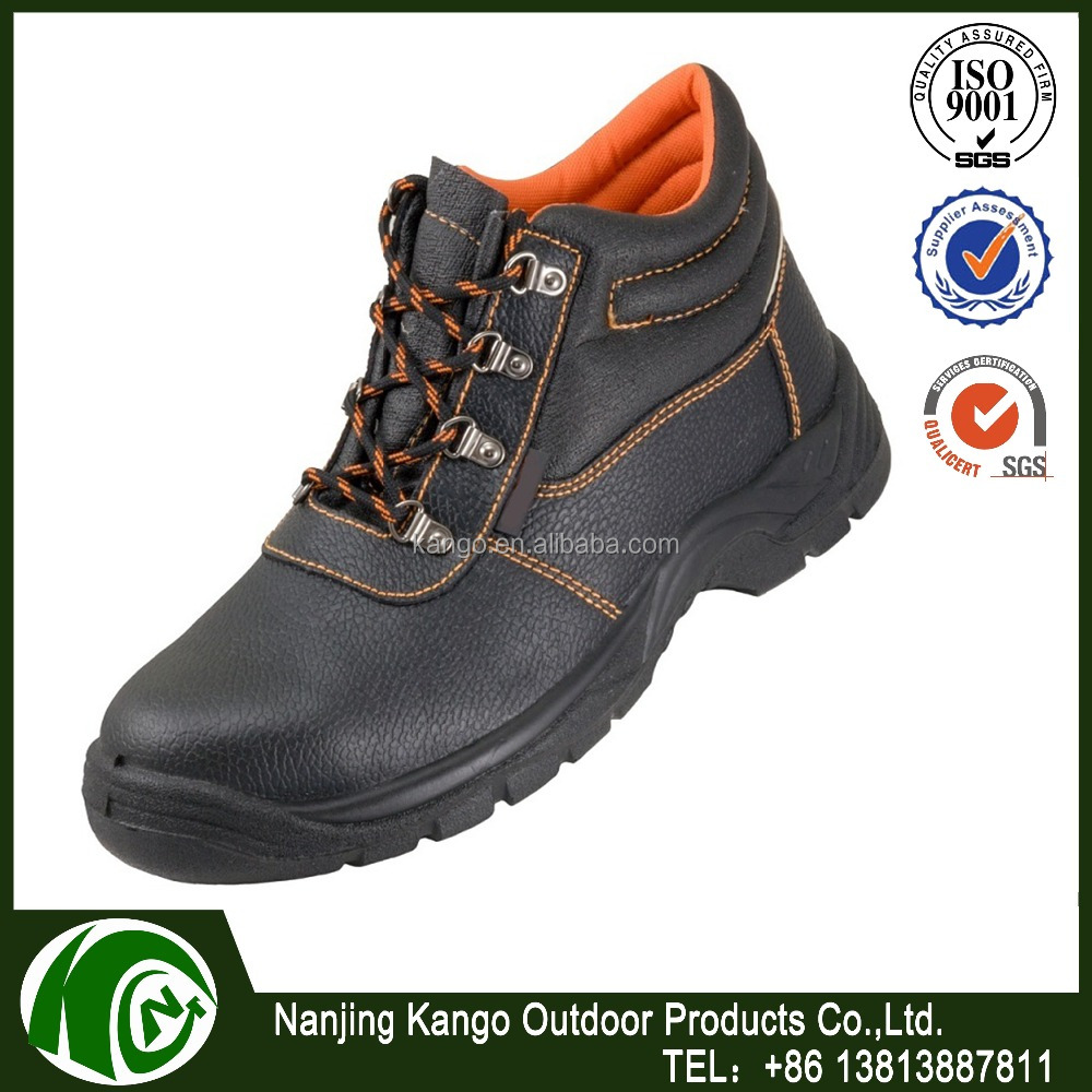 Safety Work Boots Leather Steel Toe Cap & Midsole Mens New safty shoes for chemical and warehouse