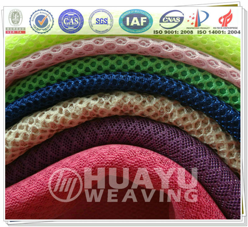 Popular 100 Polyester 3D Spacer Mesh Fabric for shoes