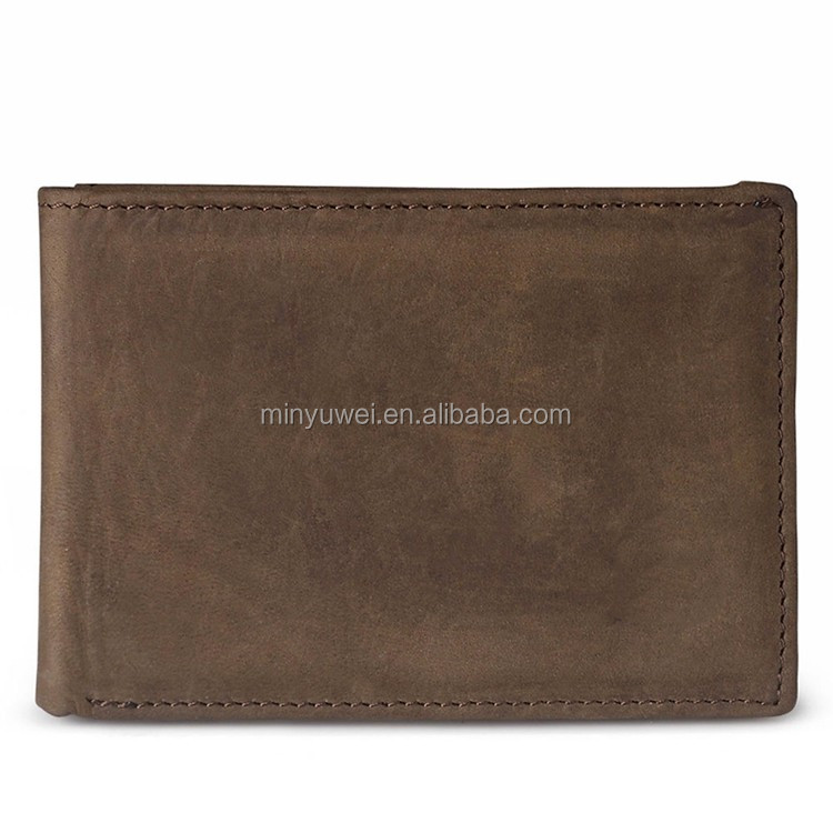 retro leather bill wallets for men ID Cash Holder Slim Wallet Men US Dollar Money Clip