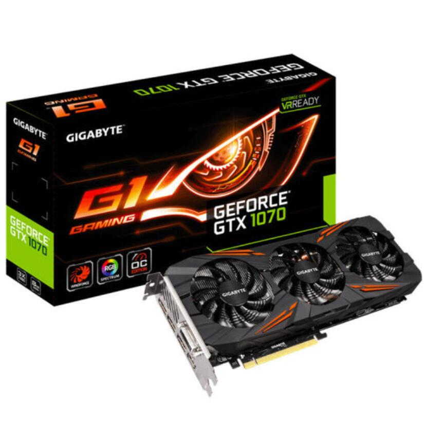 Gigabyte MSI Nvidia GeForce GTX1070 8GB Aero Graphics Card For Game Mining