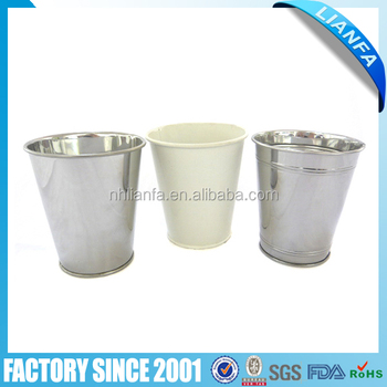 small metal bucket without handle