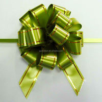 Shiny Green Pom SP Pull Ribbon Bow For Christmas Decorative or Gift BOX Packing