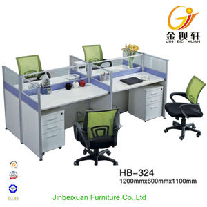 Melamine board blue and white office workstation layout