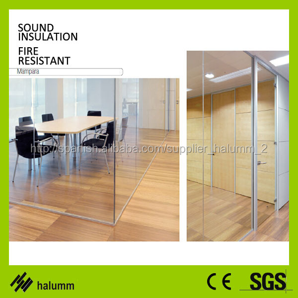 Tempered Glass Translucent Partition Panel Folding Screen Office