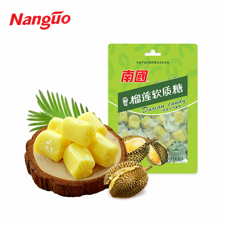 Low-sugar soft fruit chewy durian candy from Asia country