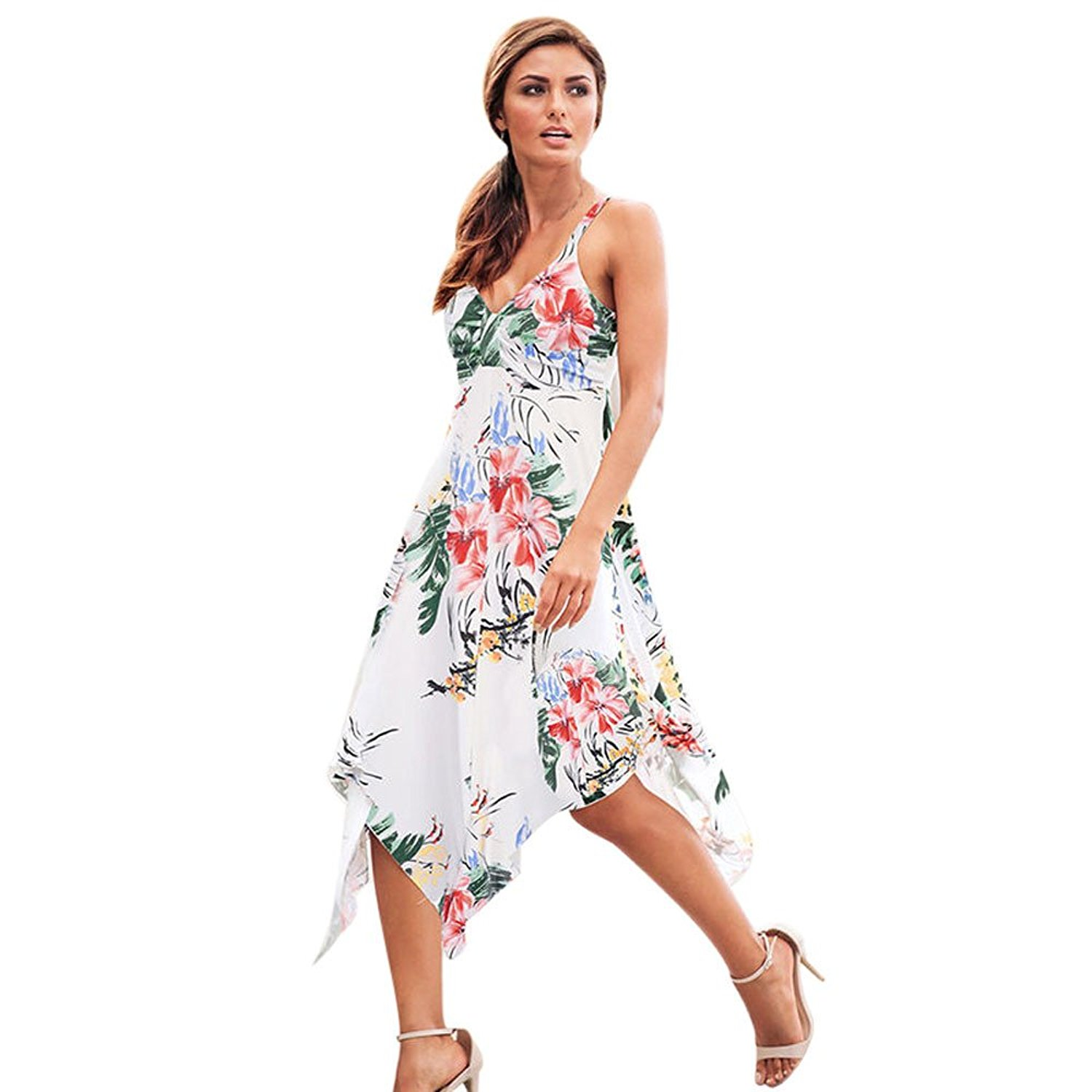 07b09da0b4 Get Quotations · ❤Women Summer Dress,Todaies Women Summer Floral Dress  Party Holiday Beach Sundress Long Dress