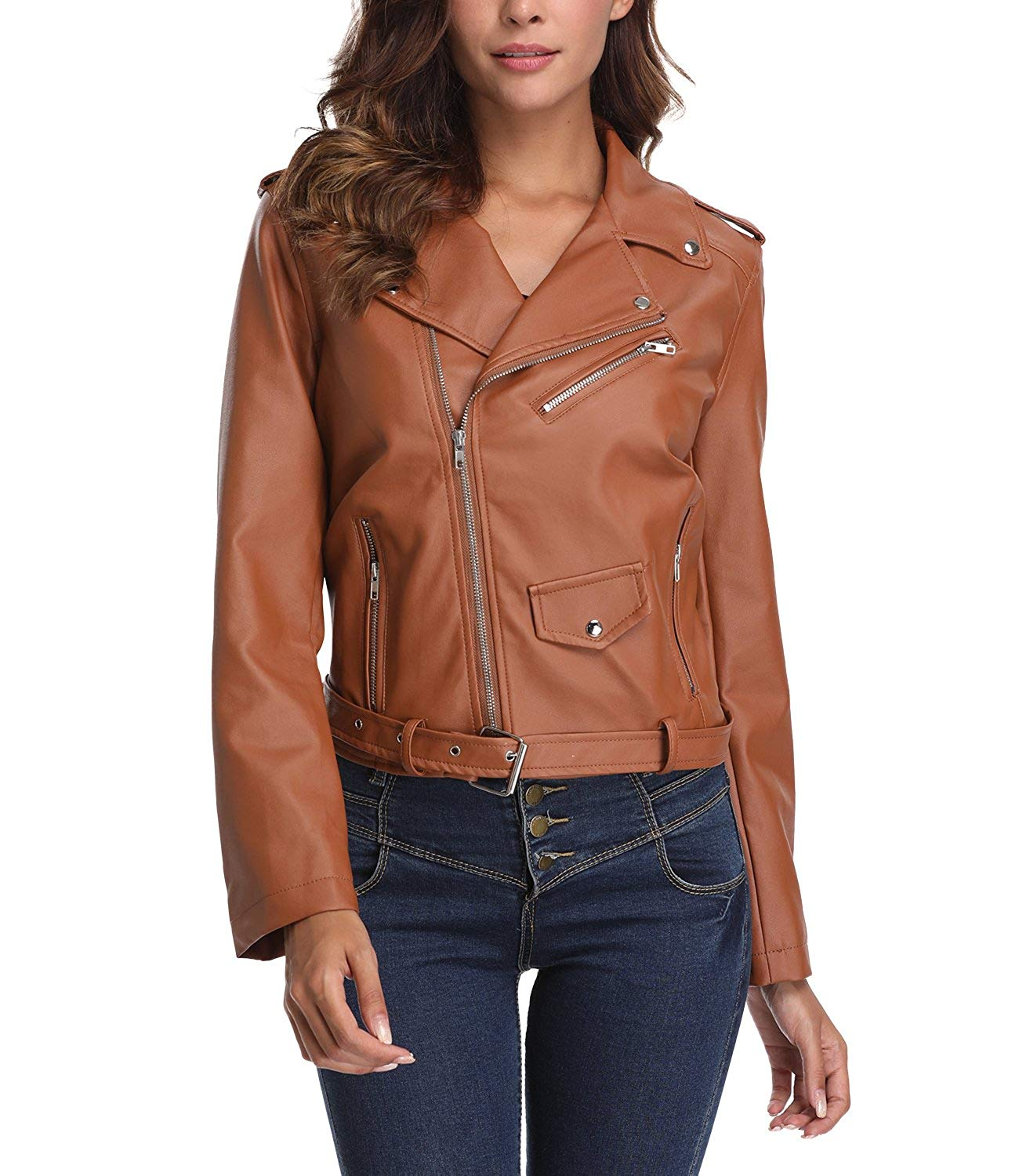 41f026caba7b Cheap Leather Jacket Stand Up Collar