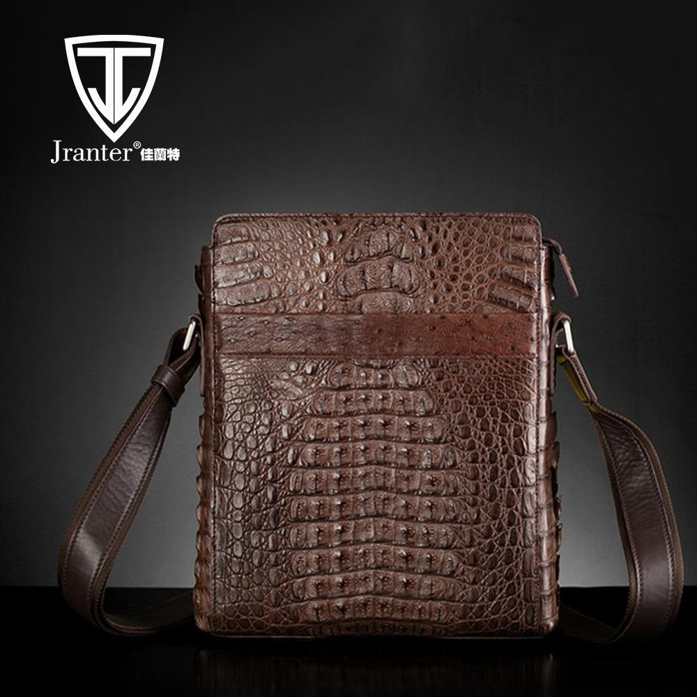 4a1825be58387 أزياء واحدة حمالة الكتف حقيبة حقيبة جلد التمساح محمول أكياس messager حقيبة  جلدية فاخرة اصلية للرجال