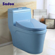 2016 Modern Factory Newest Blue Color Toilet Bowl