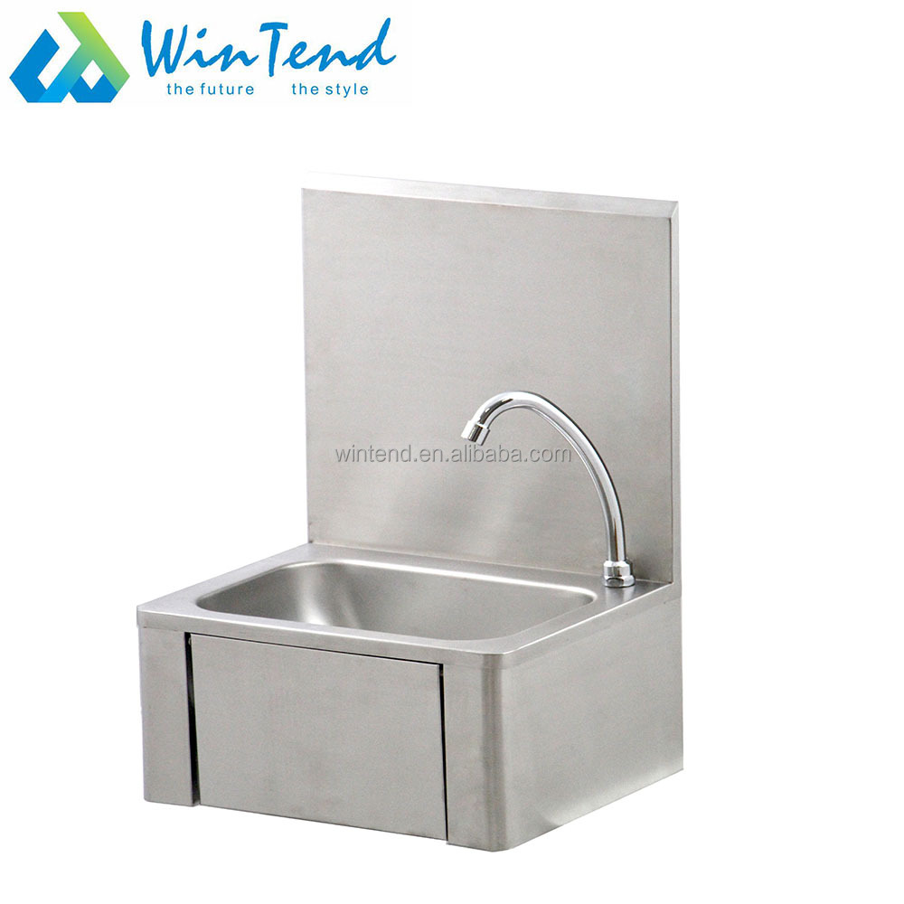 - Wall Mounted Hands Free Knee Operated Sink Hand Wash Basin With