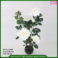 hotsale artificial rose tree,artificial rose flower with pot