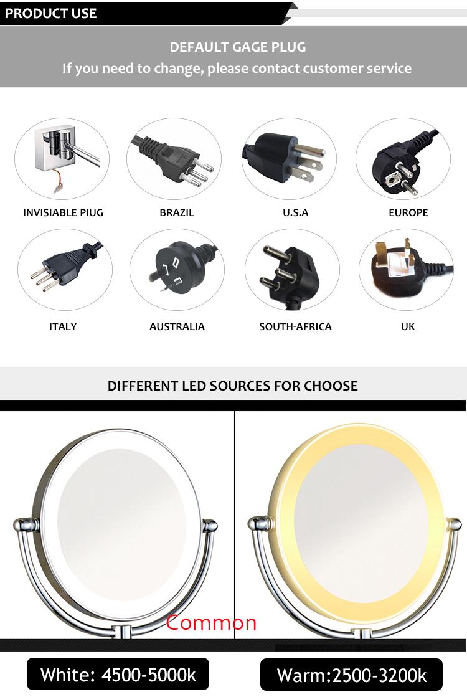 Лучшие продажи ванная комната настенный круглый освещсветодио дный енные LED косметическое зеркало для макияжа
