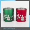 Good Quality Red Vintage Christmas Glass Candle Holders Silver Mercury Glass Votives