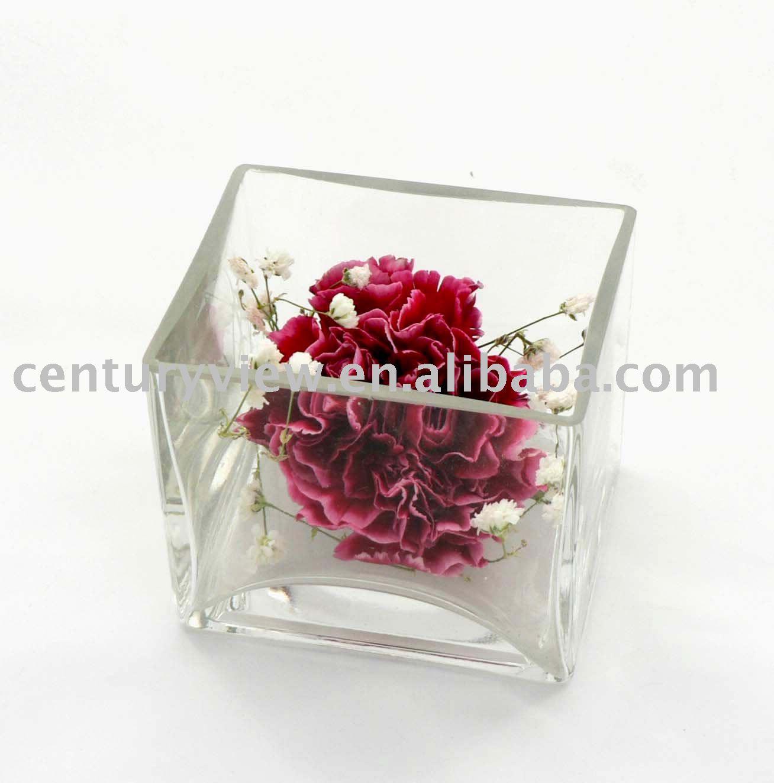 4 5 6 8 10 cubo de vidrio florero jarrones de vidrio for Vasi di vetro ikea