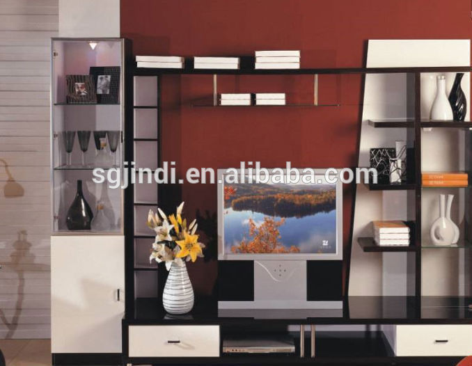 modern designs living room corner wooden tv showcase - Showcase Designs For Living Room