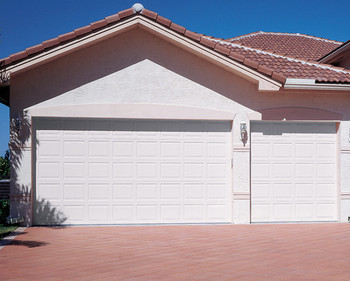 Finished surface roll up garage doors exterior position single garage door