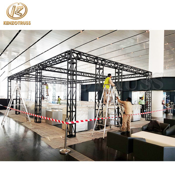 Cheap portable aluminum lighting truss podium for exhibition