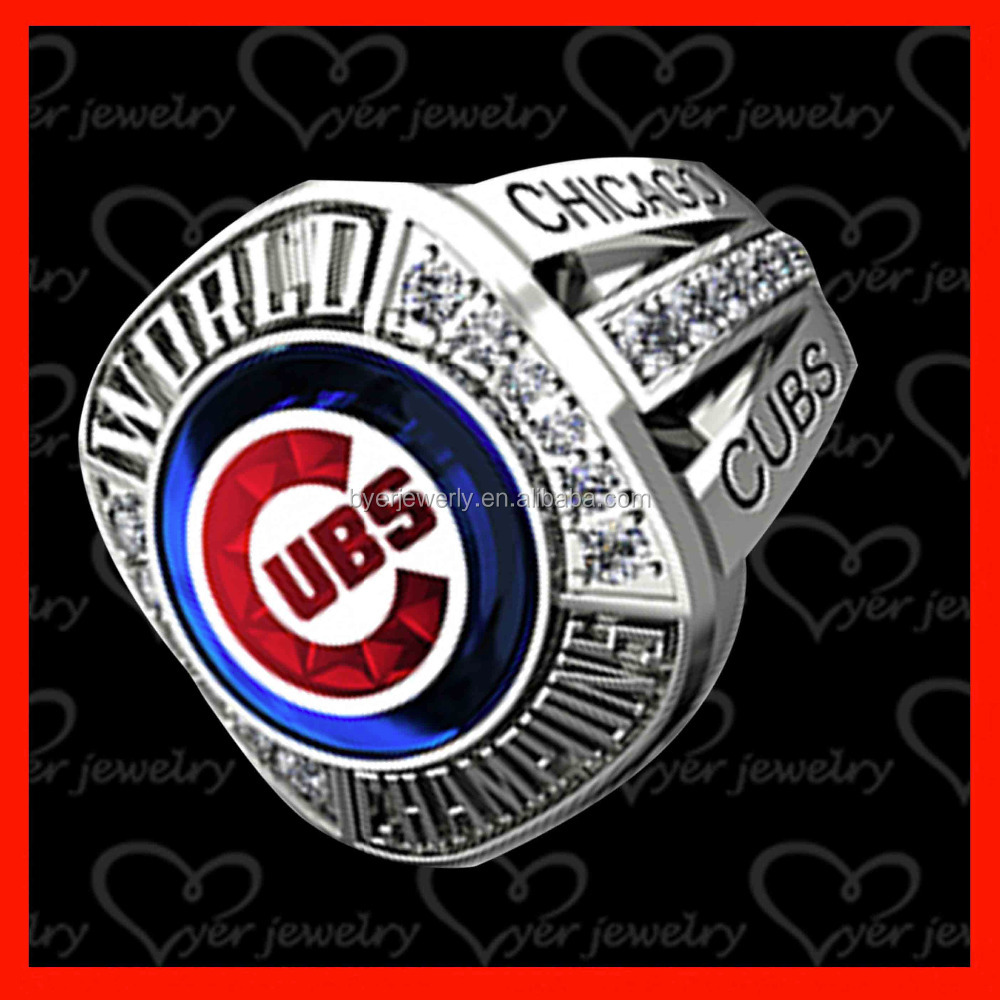 sports replica world championship ring made with stone pave setting
