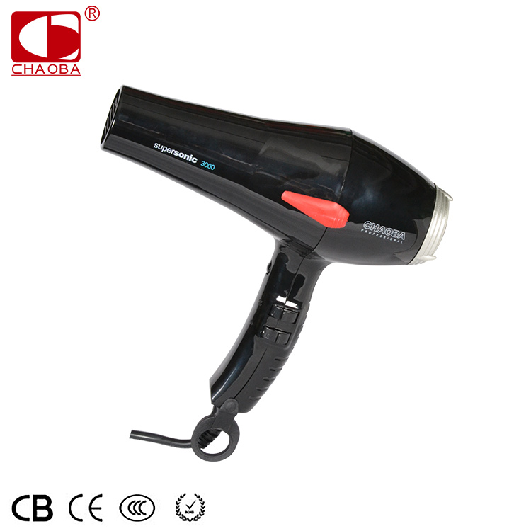 CHAOBA Supersonic 3000 2019 new hot selling professional hair dryer blow dryer with us plug