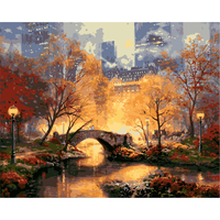 Nordic Modern Posters And Prints Manhattan Park Landscape Wall Art Picture Hand Painted Oil Painting Frames Wholesale