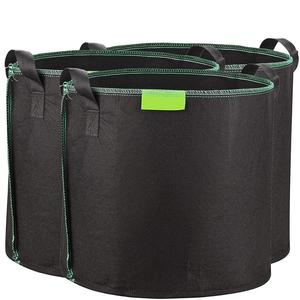 3-Pack 60 litres/16 gallons soft-sided plant pots Grow bags with soft felt-like texture that promote air root pruning