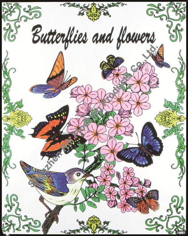 Rili Berbondong Bondong Colouring Gambar 16 20 Bunga Burung