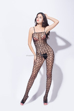 Full body stocking comfortable black sexy jumpsuits lingerie