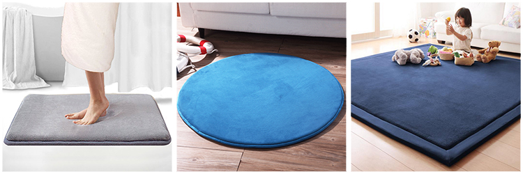 microfiber fashion anti slip memory foam bath mat/bath rug/bath carpet