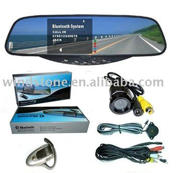 Car Rear View Camera System (with Bluetooth Handsfree), Reversing Camera