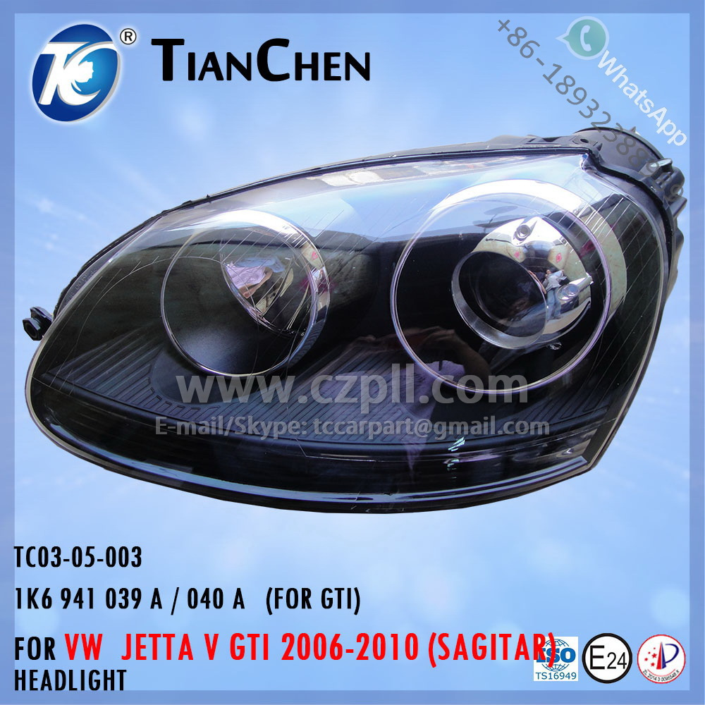 HEADLIGHT for JETTA 5 SAGITAR 2005-2009 GTI 1K6 941 039 A / 040 A - 1K6941039A / 1K6941040A - 1K6941039 / 1K6941040