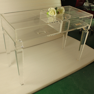 reputable site 47e13 9754f clear acrylic lucite vanity dressing table with drawers