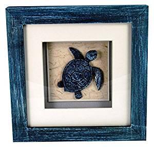 """StealStreet LHE-790 Ss-Ug-Lhe-790, 6"""" Sea Turtle Aquatic Life Shadowbox Decorative Frame, Blue"""