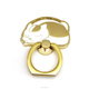 Custom new design metal gold finger ring holder for mobile phone