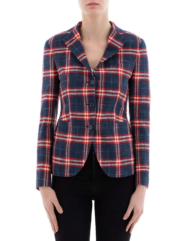 TAGLIATORE Women's JFDM13K97102R1202 Multicolor Cotton Blazer