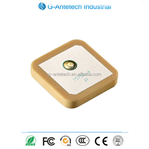 Hot selling 25*25mm low noise 1.5:1 VSWR GPS ceramic patch Dielectric Antenna