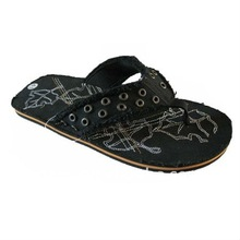 (Factory) 2012 Latest fancy canvas slippers for men
