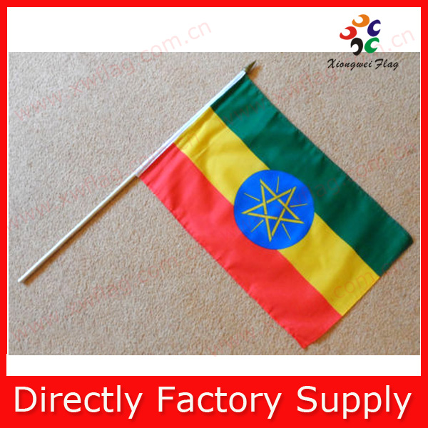 Factory Supply Ethiopia Hand Waving Flag With Stick For Election ...