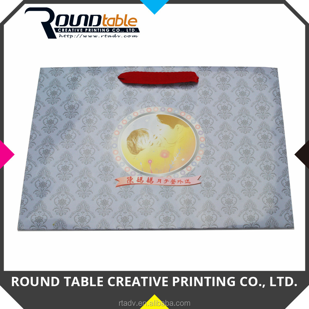 Gloss Lamination Custom Printing Paper Bag with Handle