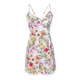 2018 Summer White Fashion Women Sexy Print Floral Short One Piece Jumpsuit